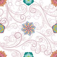 Abstract floral seamless background,