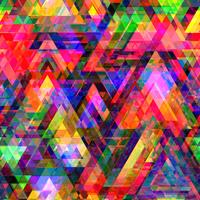 Colorful triangle polygon and seamless background. vector