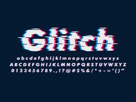 Modern Glitch Font Effect vector