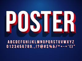 Moderno carattere di Poster 3D