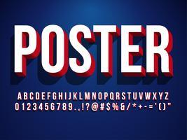 Modern 3d Poster Font
