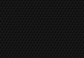 Dunkler Hintergrund und Beschaffenheit des abstrakten schwarzen Hexagon geprägten Musters. Luxus-Stil.