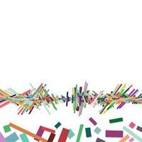 Barra de colores superpuestos en la fila, fondo abstracto.
