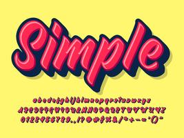 Simple Bold Brush Script Font vector
