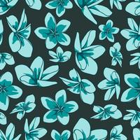 Floral element seamless background. vector