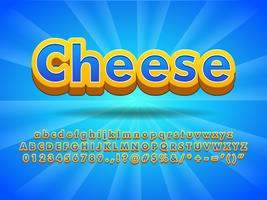 Floating Cheese 3d Font Effect