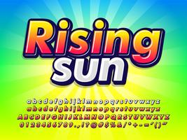 Bright Colorful Font Effect