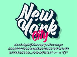 New York City Custom Lettering Typography vector