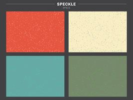 Set of retro color tone background speckle pattern texture.  vector