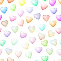 Colorful heart seamless background. vector