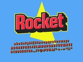 Enkel 3d Retro Blue Font Design