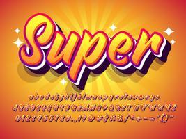 Orange Summer Text Effect With Sun Burst Background