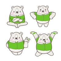 cute little bear cartoon doodle vector
