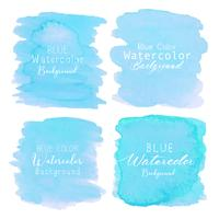 Fondo de acuarela abstracta azul. Elemento acuarela para tarjeta. Ilustracion vectorial