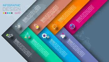 Étiquettes sombres avec infographie icône affaires.