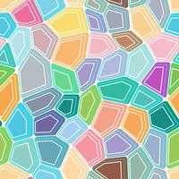 Pentagon polygon colourful design with seamless background. vector