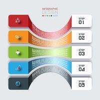 Barras horizontais com infográficos de ícone de negócios.