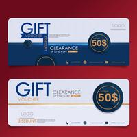 Gift voucher template. Vector illustration