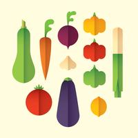 Colorful vegetable set