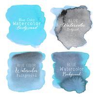 Blauwe abstracte waterverfachtergrond. Aquarel element voor kaart. Vector illustratie.