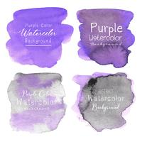 Purple abstract watercolor background. Vector illustration.