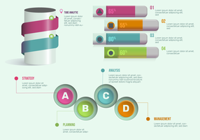 3D Infographic Elements For Presentation Vector Set