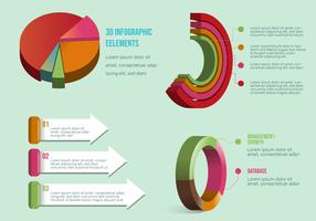 Vektor-Satz Elemente 3D Infographic