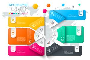 Business labels infographic on two layers circles bar. vector