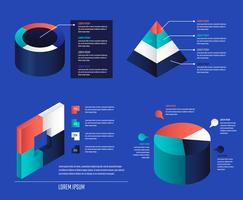 Elementos de infográfico 3D