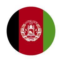 Runde Flagge von Afghanistan.
