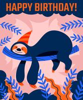 Gelukkige verjaardag dieren