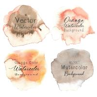 Orange abstract watercolor background. Vector illustration.