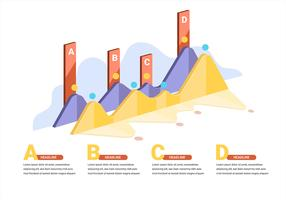 3D Infographic Elements in White Background vector
