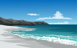 spiaggia della scogliera