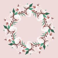 Vector Cotton Wreath