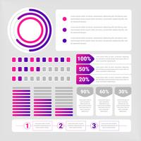 Elementi di infografica vettoriale