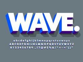 Clean 3d White And Blue Bold Font
