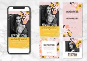 AppTemplates floreali vettoriali