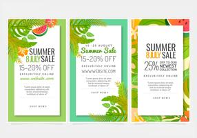 Vector Summer Sale Banners