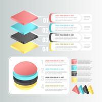Vector de elementos de infografía 3D