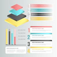 Vector 3D elementi di infografica