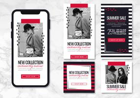 Vector Black and Red App Templates