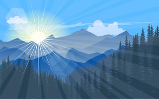 morning sunlight vector