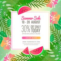 Vector Summer Sale Banner Template