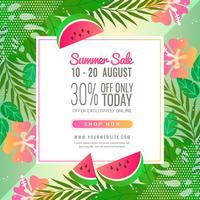 Vector Summer Sale Banner Template