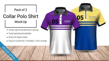 Polo collar t-shirt template.