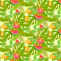 Vector Tropical Seamless Pattern