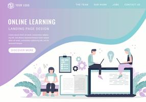 Vector Online Learning Landing Page