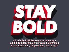 3d Bold Strong Red Font Effect