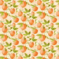 Vector Peach Seamless Pattern